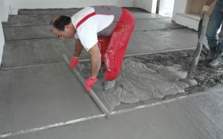 Как правильно сделать бетонную стяжку пола: порядок работ, рекомендации