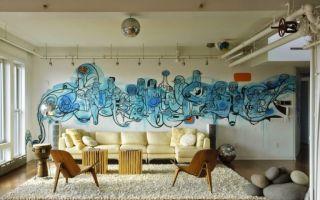 Стилизация и оформление стен в гостиной