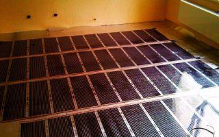 Пленочный теплый пол под плитку: пошаговый монтаж