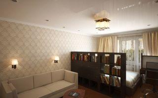 Гостиная совмещенная со спальней: зонирование пространства и альтернативные методы