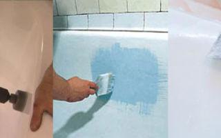 Как самостоятельно восстановить эмаль ванны