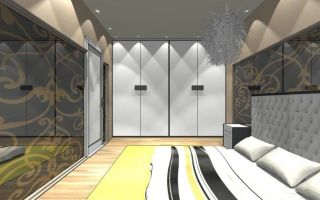 Дизайн спальни с гардеробной: выбор расположения, формы, определение размеров