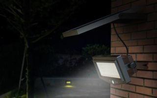 Уличный прожектор для дачи