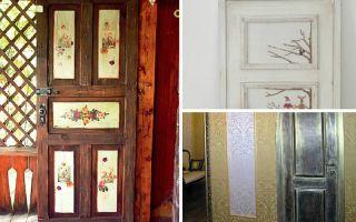 Варианты дизайна дверей своими руками, фото, видео