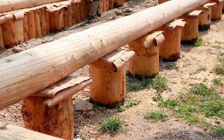 Деревянный фундамент своими руками