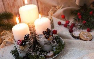 Новогодние идеи оформления свечей своими руками