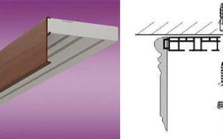 Крепление карниза к потолку и особенность монтажа