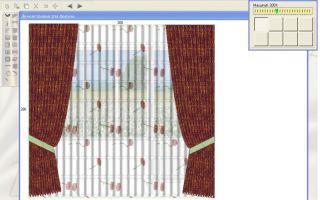 Узнай, как я нарисовала штору с помощью компьютерной программы newhermitage