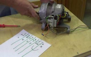 Ремонт и проверка двигателя стиральной машины