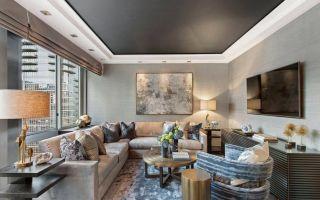 Тенденции дизайна потолков в гостиной