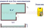 Онлайн-калькулятор расчета материалов на наливной пол
