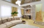 Оформление интерьера гостиной в частном доме