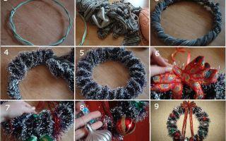 Как сделать рождественский венок своими руками: мастер класс