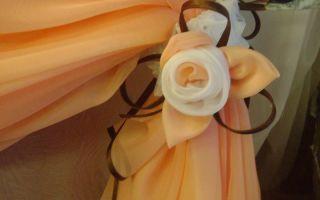 Как легко и просто можно сделать цветы из тюли для штор своими руками