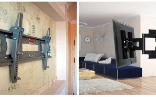 Как можно повесить телевизор на стену из гипсокартона
