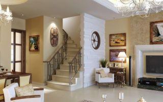 Дизайн гостиной с лестницей: секреты интерьера