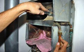 Как почистить газовую колонку своими руками