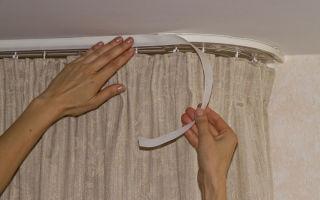 Как закрепить ламбрекен на карнизе своими руками