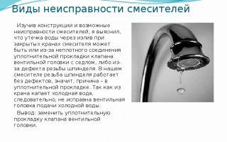 Основные виды поломок кранов и смесителей в ванной