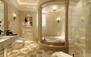 Элегантный и роскошный дизайн ванной комнаты