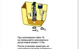 Инструкция по разбору сливного бачка унитаза