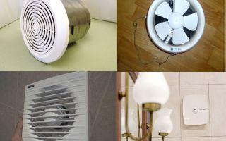 Установка вытяжного вентилятора в ванной