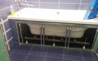 Как сделать экран под ванну своими руками? виды и устройство экранов