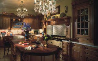 Идея интерьера кухни в викторианском стиле