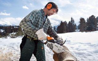 Подготовка бензопилы к работе: режущая оснастка пилы