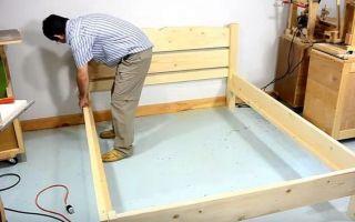 Как сделать кровать своими руками из дерева: поэтапное выполнение работы