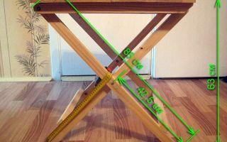 Как изготовить раскладной стол своими руками