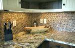 Мозаика в интерьере: для кухни плитка, современное комбинирование, сочетание разных материалов, использование