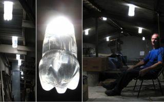 Как сделать освещение в гараже без электричества