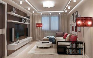 Как оформить интерьер зала 17 кв м?