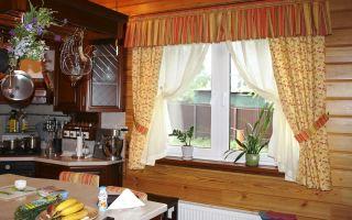 Деревенские шторы для кухни: выберите вариант оформления вашего окна