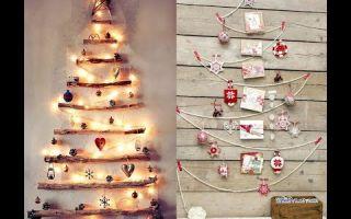 Оригинальные новогодние украшения из дерева