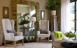 Как правильно использовать зеркала в интерьере гостиной