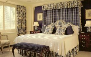Интерьер штор для спальни: стиль, особенности выбора (фото)