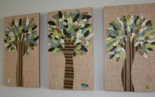 Как изготовить поделки своими руками на стены: панно из ткани и бумаги