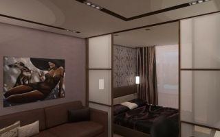 Дизайн совмещенных гостиной и спальни