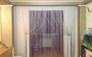 Нитяные шторы в интерьере – преимущество и фото