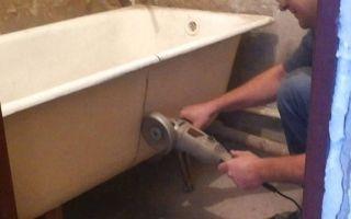 Как правильно распилить чугунную ванну своими руками?