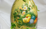 Декупаж пасхальных яиц: техника украшения праздничного стола (+36 фото)