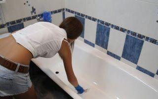Покрытие ванны жидким акрилом: реставрируем ванну своими руками