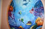 Акриловые рисунки на стенах: как сделать роспись