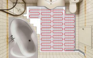 Теплый пол под плитку в ванной своими руками