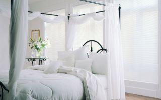 5 стилей для использования белых штор в интерьере спальни