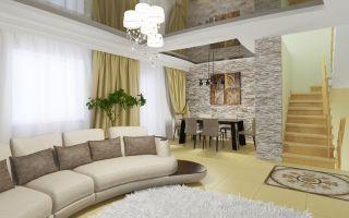 Дизайн зала по всем правилам в доме