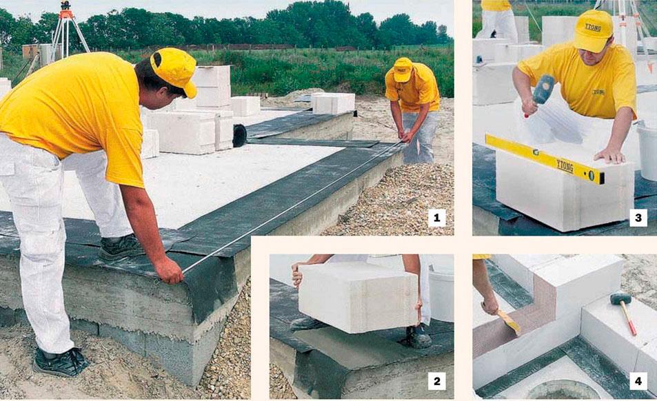 можно ли блоки класть на цемент