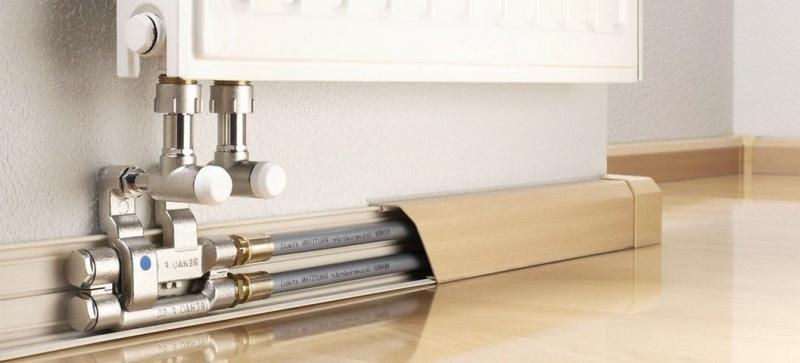 Плинтус для труб отопления: советы по прокладке